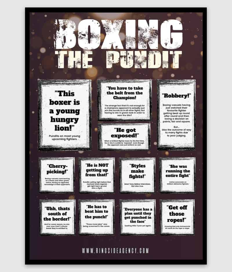 ringside agency-poster-boxing pundit