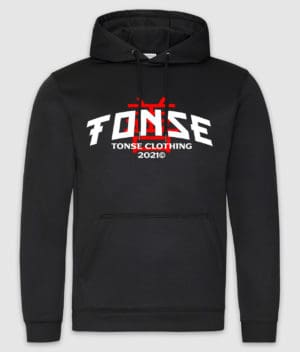 t0nse clothing-hoodie-sports polyester-jet black-front