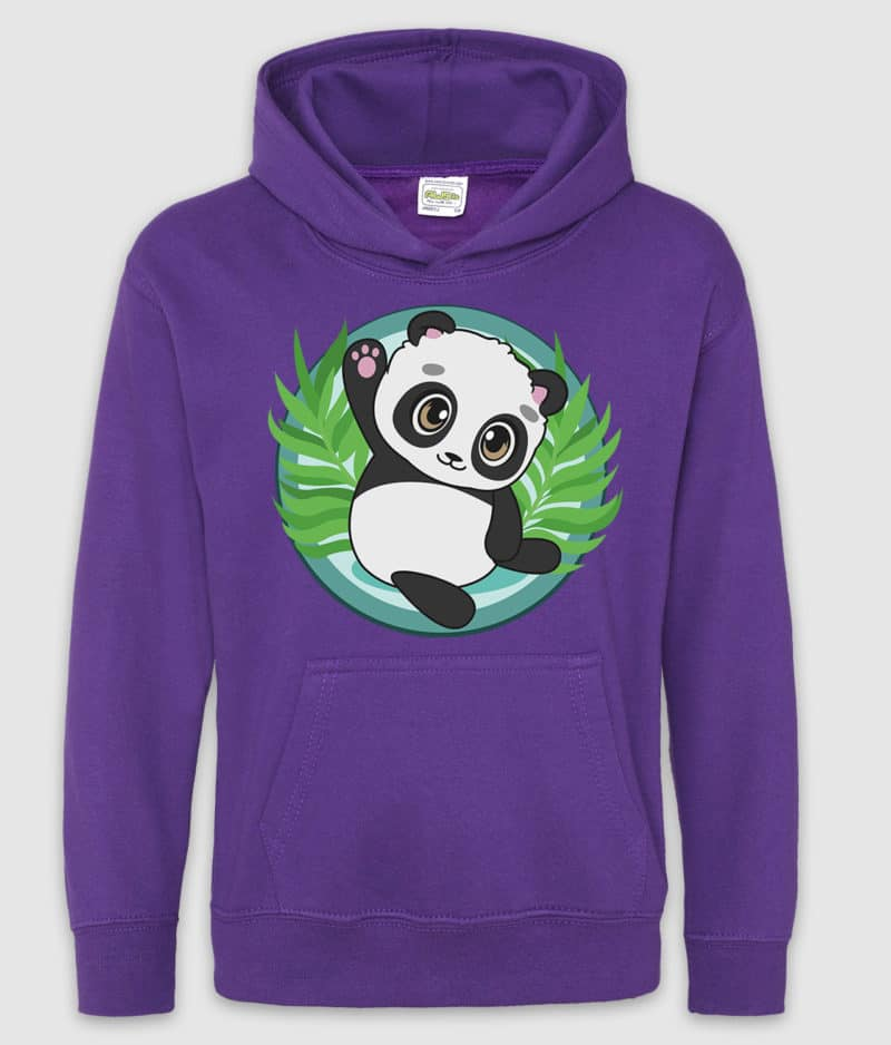 beduna-hoodie kids-hyggefis-purple-front