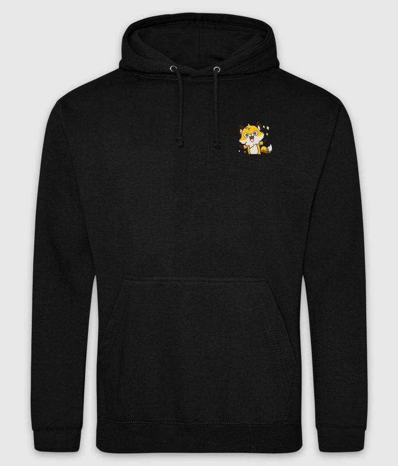 guldraeven-logo-hoodie-jet black-front