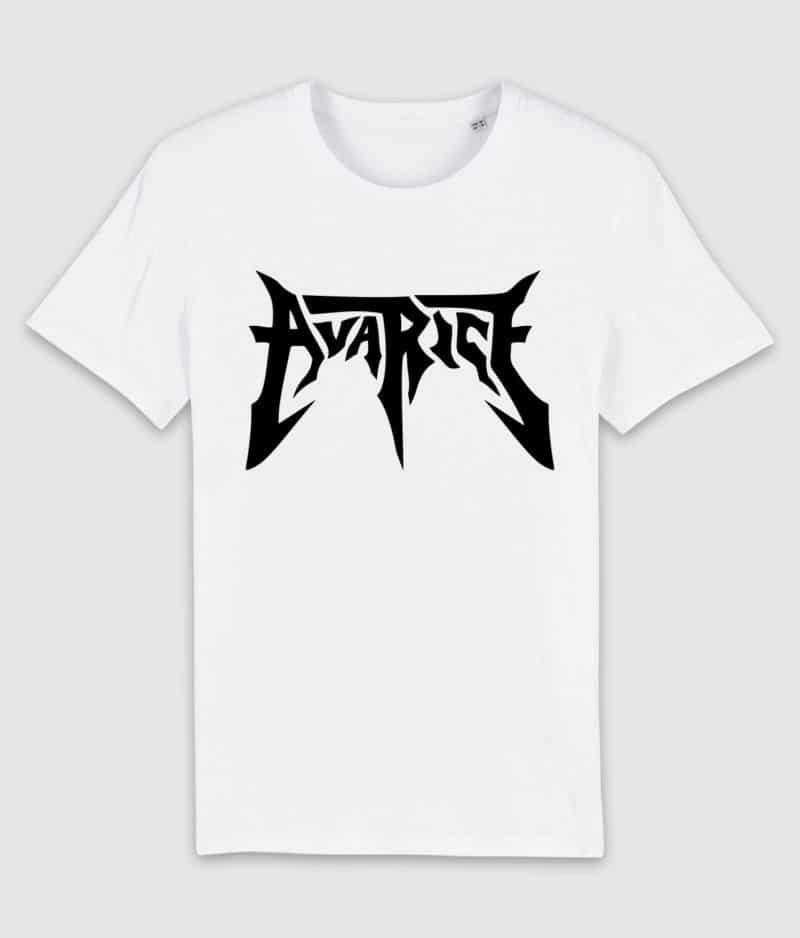 avarice-tshirt-logo-white-front