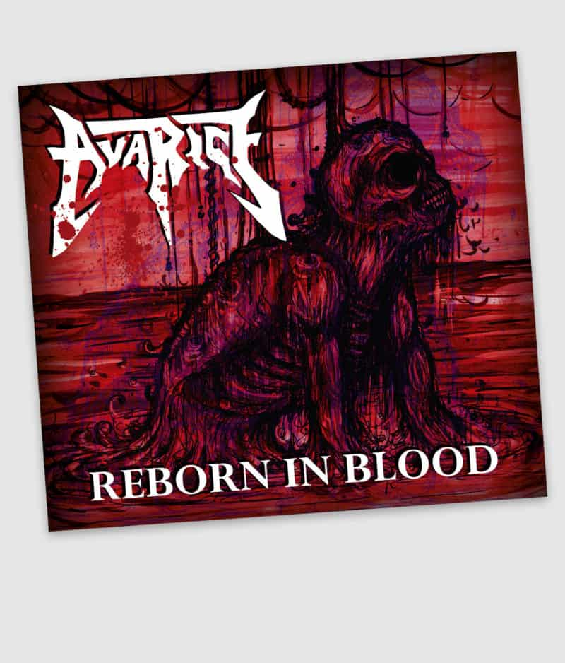 avarice-reborn in blood-digipack-front