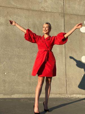 Stella Starlight Red Wrap Dress