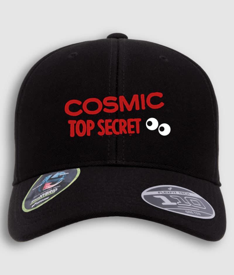 cosmic top secret-logo-cap-black-front