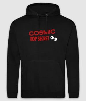 cosmic top secret-logo-hoodie-jet black-front