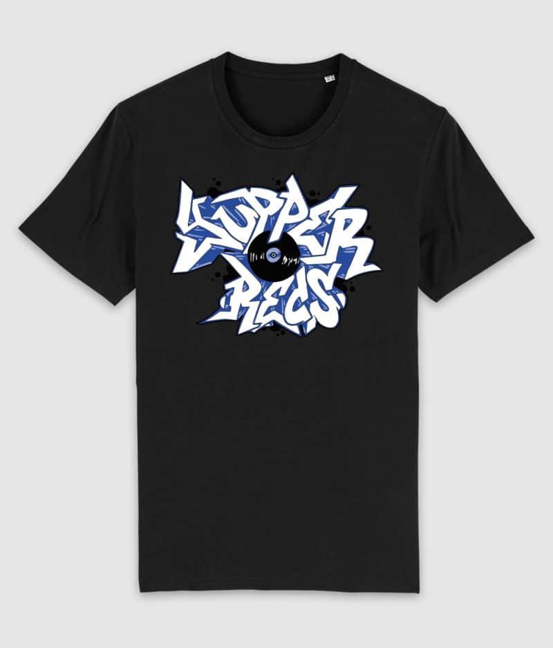 yupper recs-tshirt-logo-black-front