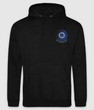 tdm-hoodie-blindsight-jet black-blue print-front