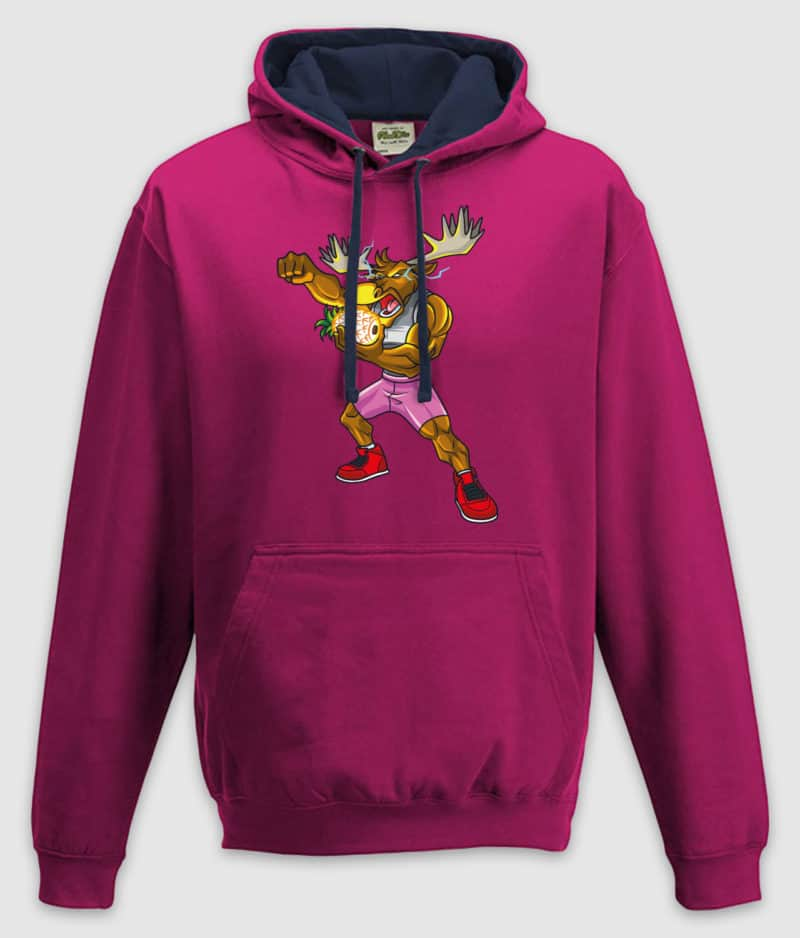 dme-thanos elg-hoodie-hot pink french navy-front